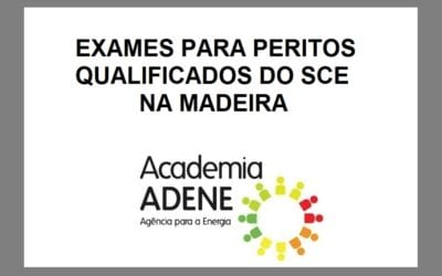 Exames para Peritos Qualificados do SCE