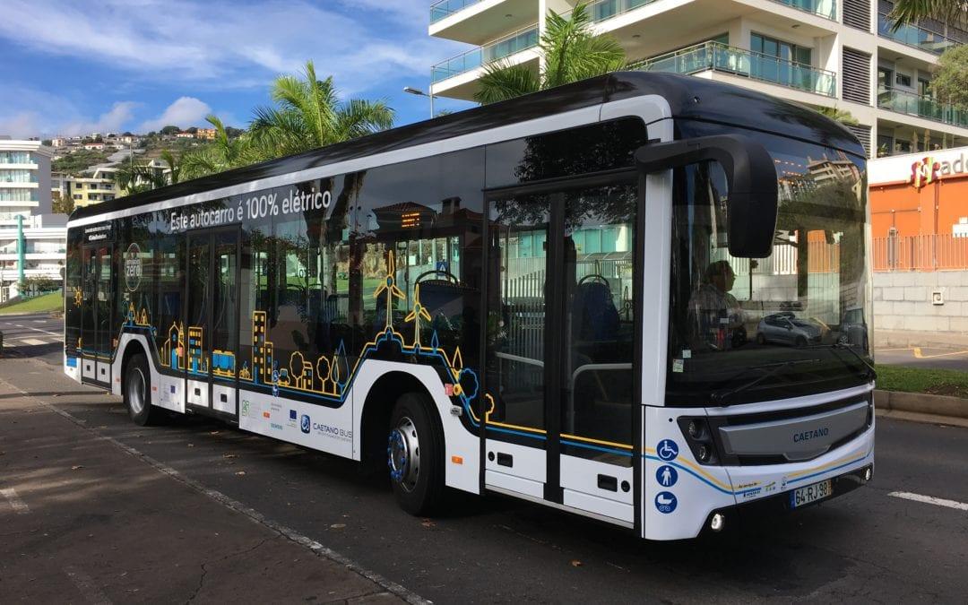 Demonstração do autocarro elétrico e.City Gold na Madeira e Porto Santo